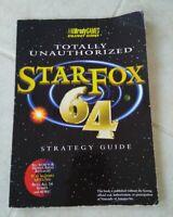 Starfox 64 Strategy Guide Book Nintendo Gamer Brady Games Unauthorized