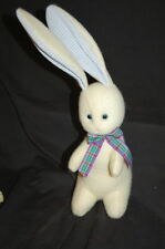 "Hallmark Felt Fabric Purple Bunny Rabbit Ears 18"" Plush Stuffed Lovey Animal Toy"