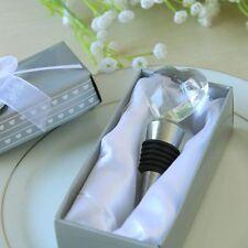 Bomboniera Tappo per bottiglie con cuore di cristallo Scatola di regalo fiocco