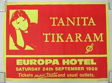 TANITA TIKARAM Europa Hotel BELFAST Northern Ireland 1988 CONCERT POSTER VG/VG+
