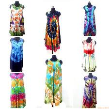 20 Pcs Assorted Lot Sundress Summer Beach Wear Indian Tie Dye Casual Tunic Dress