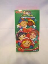 New! FISHER PRICE Little People CHRISTMAS DISCOVERIES VIDEO VHS