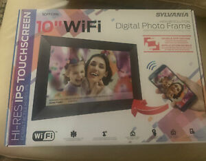 Sylvania, 10 in. Wi-Fi FRAMEO APP Control Digital Picture Frame, SDPF1096 - New