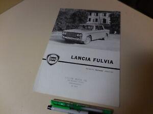 LANCIA FLUVIA English Brochure 1963/03? Reprinted