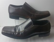 Barratts Men's Brown Leather Slip On Shoes Size 10