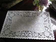 20 pcs ❤Elegant Wedding Event White Lace Paper Placemat Victorian Floral Scrolls