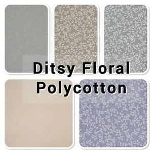 """DITSY FLORAL POLYCOTTON FABRIC - Choice of colours 2, 45""""/115cm by the Metre"""