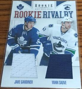 2011-12 Panini Rookie Anthology Rookie Rivalry Dual Jerseys J.Gardiner/Y.Sauve