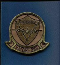 VMGR-352 RAIDERS USMC MARINE CORPS C-130 HERCULES Subdued Squadron Patch + Vel