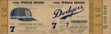 5 1956 WORLD SERIES UNUSED FULL VINTAGE TICKETS BROOKLYN DODGERS  NY YANKEES