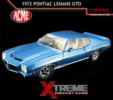 ACME A1801204 1:18 1972 PONTIAC LEMANS GTO LECURN BLUE RAM AIR