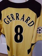 Vintage Steven Gerrard Liverpool 04/05 Champions League Jersey Size Large