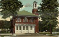 Potsdam NY Central Fire Station c1910 Postcard