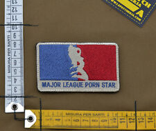 """Ricamata / Embroidered Patch """"Major League Pornstar"""" with VELCRO® brand hook"""