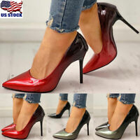 Womens Gradient Pointed Toe High Heels Stiletto Shoes OL Ladies Work Shoes Pumps