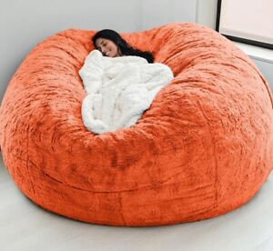 7ft Comfy Beans Giant Bean Bag Cover Chair Big Sofa Portable Living Room Coach