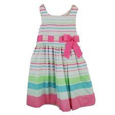 Bonnie Jean Size 5 Girls Dress Spring Summer Pastel Stripes