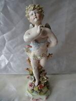 Vintage Dresden Style Reproduction Porcelain Cherub Figure Ornament Centre Piece