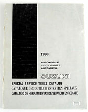 Suzuki cars 1980 special service tools factory catalogue