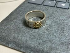 Japanese artisan silver ring with 18k gold rare one Japan made(not goros)