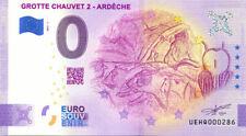 07 VALLON-PONT-D'ARC Grotte Chauvet 2, 2021, Billet Euro Souvenir