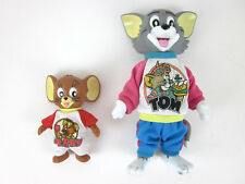 "ULTRA RARE Vintage 1989 Tom (9"") & Jerry (5"") Turner Action Figures Outfits"