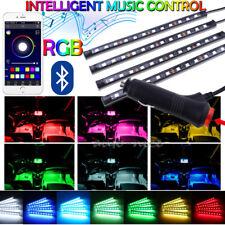 12 LED Interior Under Dash Atmosphere Neon Lights Strip APP Music Control 4in1