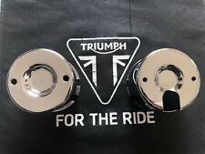 Triumph Thunderbird Sport 900 Chrome Clock Covers T2502016/T2502021