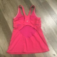 Lululemon Crossback Tank II 6 Jewelled Magenta Pink Racerback Top Shirt Mesh