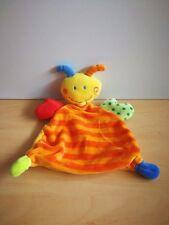 Doudou Abeille Babysun plat jaune orange