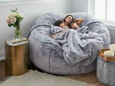 Giant Removable & Washable Fur Bean Bag Bed Cover