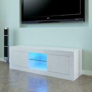 Modern 145cm TV Unit Cabinet Stand Sideboard Matt body and High Gloss Doors LED