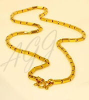 22K 22kt  PURE  GOLD 2 baht box chain / necklace handmade from Thailand 24""