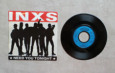 "DISQUE VINYL 45T SP / INXS ""NEED YOU TONIGHT""  7"" 1987 MERCURY 888 813-7"
