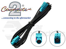 In car radio aerial extension cable lead 3M male Fakra - Fakra female CT27AA118