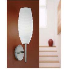 NEU Wandleuchte Wandlampe Lampe Leuchte Glas geriffelt Metallgehäuse Eglo e86698