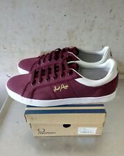 FRED PERRY sidespin canvas port 40 EU NEW OG BOX nuevo