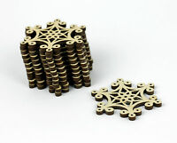 Set of 12x Christmas Wooden Snowflake Ornaments / Craft Shape / Decoration