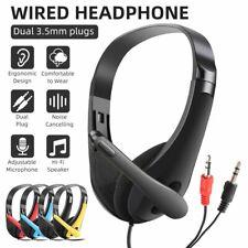 Headset 3.5mm Kopfhörer Telefon Stereo Computer PC Laptop Headphone mit Mikrofon