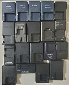 Original Digital Camera Battery Chargers for Pentax, Olympus, Fujifilm, etc..