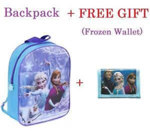 LARGE Disney Frozen Anna Elsa And Olaf Nursery School Travel Girls Backpack Bag