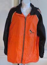 Vtg Baltimore Orioles Nylon Starter Jacket Old Logo Vented Hood Size Small