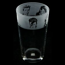 More details for david bowie - engraved pint glass | gift - present