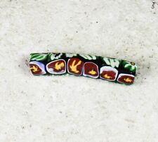 Rare elbow Venetian millefiori trade bead