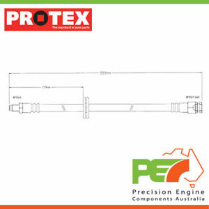 New *PROTEX* Hydraulic Hose - Front For SAAB 900 . 2D Convertible FWD.