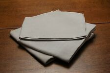 LOT 3 Pure LINEN Fabric Vintage French PROJECTS Off White NEAR PERFECT Floppy