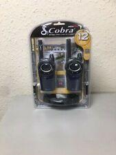 COBRA MT975 MICROTALK WALKIE TALKIE RADIOS TWIN PACK RECHARGEABLE 9 MILES RANGE