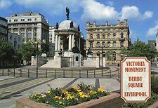 Postcard Lancashire Liverpool Victoria monument Derby square  un   posted