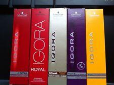 3 x ALL TUBES Schwarzkopf Igora Royal Permanent Hair Color 60ml