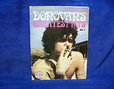 Donovans Greatest Hits No.7 Lyrics Chord Names Pictures 1969 Music Notes Book